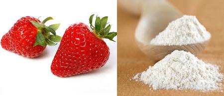 Kết hợp giữa dâu tây và bột nở